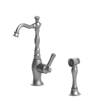 Rubinet 8NRVLWHWH Raven Single Control Bar Faucet with Hand Spray With Finish: Main Finish: White | Accent Finish: White