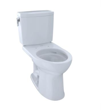TOTO CST454CUFG#11 Drake II Two-Piece Elongated Toilet with 1.0 GPF Single Flush With Finish: Colonial White And CeFiONtect: With CeFiONtect Ceramic Glaze