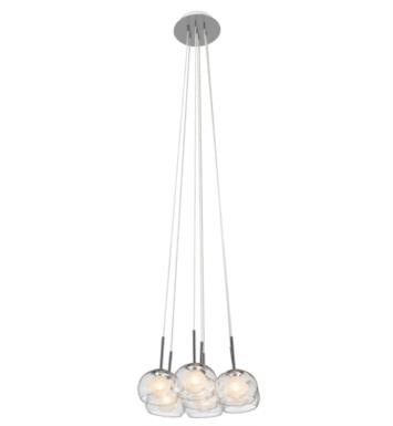 "Elan Lighting 83073 Niu 7 Light 16 1/4"" Halogen Mini Pendant Cluster in Chrome Finish"