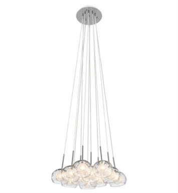 "Elan Lighting 83074 Niu 11 Light 21 3/4"" Halogen Mini Pendant Cluster in Chrome Finish"