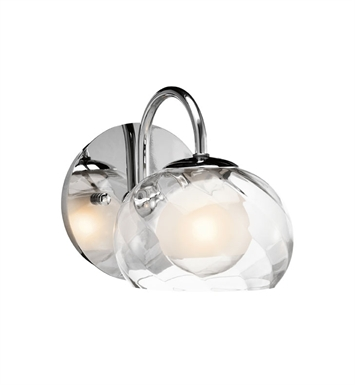 Elan Lighting 83075 Niu™ Sconce in Chrome Finish