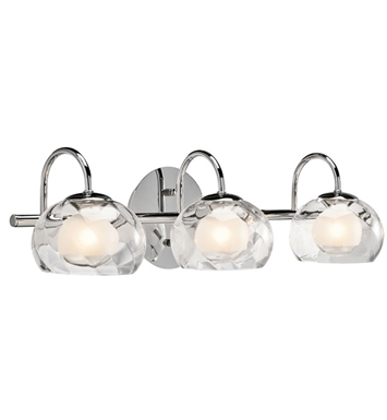 Elan Lighting 83076 Niu™ 3-Bulb Vanity Light in Chrome Finish