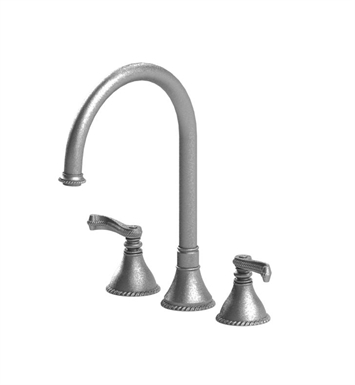 Rubinet 8AETLPNPN Etruscan Widespread Kitchen Faucet With Finish: Main Finish: Polished Nickel | Accent Finish: Polished Nickel