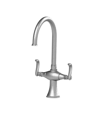 Rubinet 8DETLSNGD Etruscan Dual Handle Kitchen Faucet With Finish: Main Finish: Satin Nickel | Accent Finish: Gold