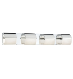 Elan Lighting 83277 Olo™ 4-Panel Vanity Light in Chrome Finish