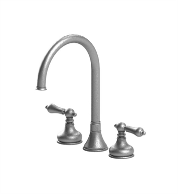 Rubinet 8ARMLSNSN Romanesque Widespread Kitchen Faucet With Finish: Main Finish: Satin Nickel | Accent Finish: Satin Nickel