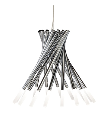 Elan Lighting 83283 Phlair™ 16-Arm Chandelier in Chrome Finish