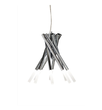 Elan Lighting 83286 Phlair™ 8-Arm Chandelier in Chrome Finish