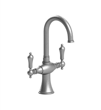 Rubinet 8PRMLSNBB Romanesque Dual Handle Bar Faucet With Finish: Main Finish: Satin Nickel | Accent Finish: Bright Brass