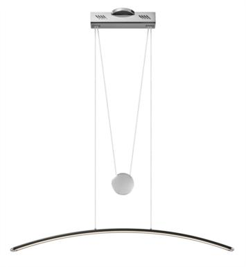 "Elan Lighting 83447 Sava 1 Light 40 1/4"" LED Linear Pendant in Black Finish"