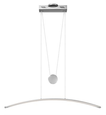 "Elan Lighting 83448 Sava 1 Light 40 1/4"" LED Linear Pendant in White Finish"
