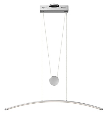 Elan Lighting 83448 Sava™ Linear Pendant in Silver Gray Finish