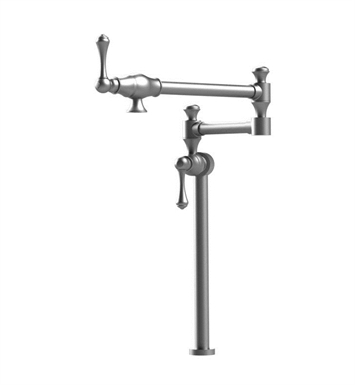 Rubinet 8HFMLSNSN Flemish Deck Mount Pot Filler With Finish: Main Finish: Satin Nickel | Accent Finish: Satin Nickel