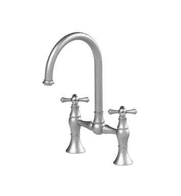 Rubinet 8VFMCSNBB Flemish Kitchen Bridge Faucet With Finish: Main Finish: Satin Nickel | Accent Finish: Bright Brass
