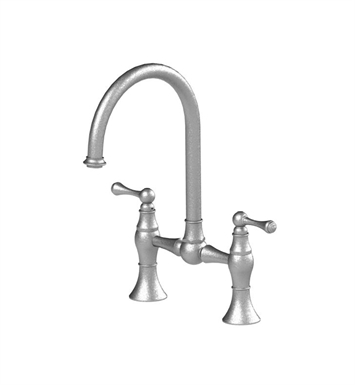 Rubinet 8VFMLSNBB Flemish Kitchen Bridge Faucet With Finish: Main Finish: Satin Nickel | Accent Finish: Bright Brass