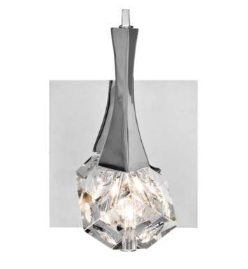"Elan Lighting 83135 Rockne 1 Light 6"" Halogen Wall Sconce in Chrome Finish"