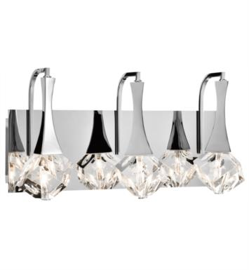 "Elan Lighting 83136 Rockne 3 Light 17 3/4"" Halogen Vanity Light in Chrome Finish"