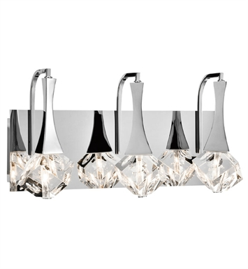 Elan Lighting 83136 Rockne™ 3-Bulb Vanity Light in Chrome Finish
