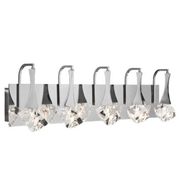 "Elan Lighting 83137 Rockne 5 Light 32"" Halogen Vanity Light in Chrome Finish"