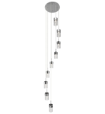 Elan Lighting 83164 Shayla™ Spiral Mini Pendant Chandelier in Chrome Finish