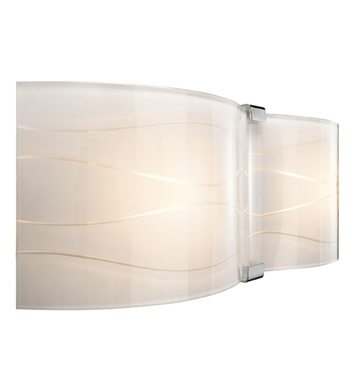 Elan Lighting 83083 Undulla™ 2-Bulb Vanity Light in Chrome Finish