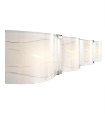 "Elan Lighting 83085 Undulla 4 Light 34 3/4"" Incandescent Vanity Linear Bath Light in Chrome Finish"