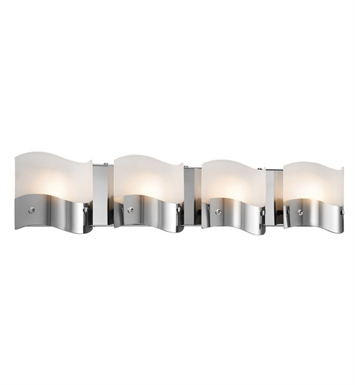 Elan Lighting 83166 Unsa™ 4-Bulb Vanity Light in Chrome Finish