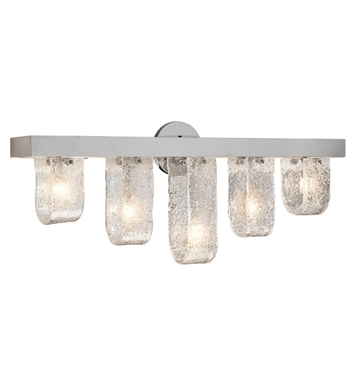 Elan Lighting 83096 Zanne™ 5-Bulb Vanity Light in Chrome Finish