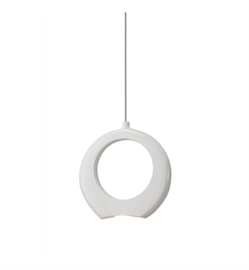 Elan Lighting 83317 Zuy™ Mini Pendant in Chrome and White Finish