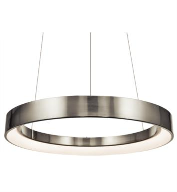 "Elan Lighting 83261 Fornello 1 Light 23 1/2"" LED Ring Pendant in Brushed Nickel Finish"