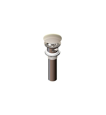 Rubinet 9DPU12SB Exposed Push-Up Drain with Overflow With Finish: Satin Brass