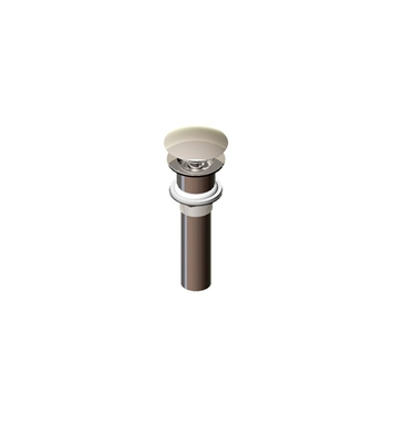 Rubinet 9DPU14SB Exposed Push-Up Drain without Overflow With Finish: Satin Brass