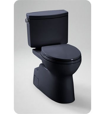 TOTO CST474CEF#51 Vespin® II Two Piece High Efficiency Toilet, 1.28GPF in Ebony Black With Finish: Ebony <strong>(SPECIAL ORDER. USUALLY SHIPS IN 3-4 WEEKS)</strong>