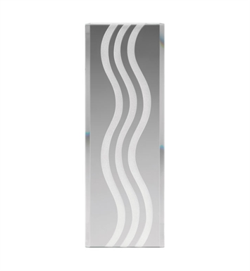 Kichler 4079 Modern Curved Lines Pattern Stocked Glass Panel