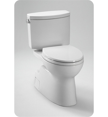 TOTO CST474CEFG#01 Vespin® II Two Piece High Efficiency Toilet, with SanaGloss, 1.28GPF With Finish: Cotton