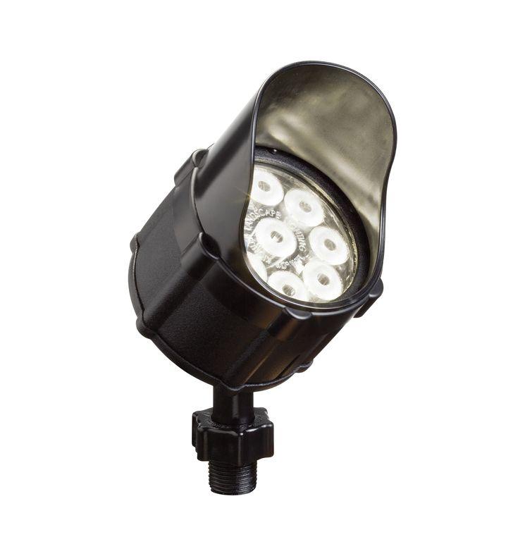 Kichler 15753BKT Landscape LED 9-Bulb Low Voltage Accent Light