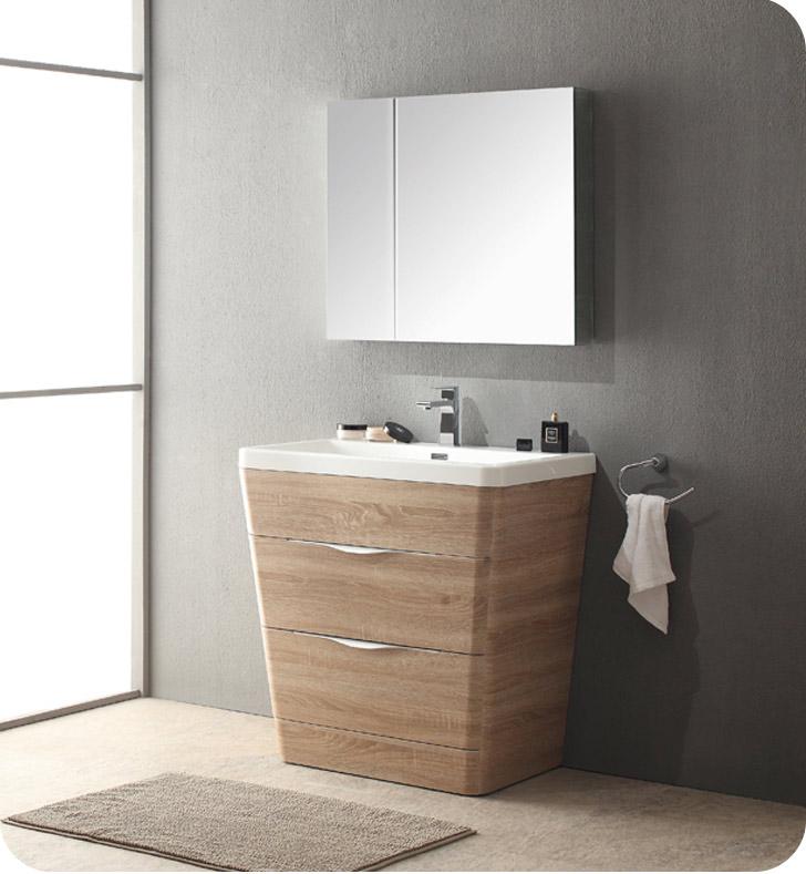 fresca fvn8532wk milano 32 modern bathroom vanity in a white oak