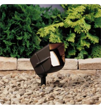 Kichler 15396AZT 1 Light 12V Landscape Mini Hooded Adjustable Flood Light in Textured Architectural Bronze