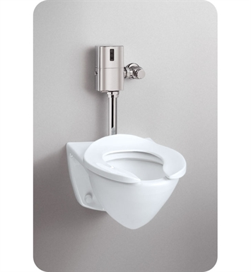TOTO CT708EG#01 Commercial Flushometer High Efficiency Toilet - 1.28 GPF, Top Inlet Spud With Finish: Cotton