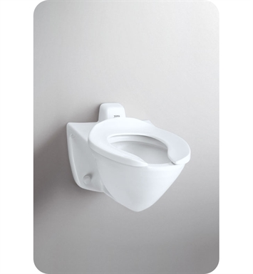TOTO CT708EV#01 Commercial Flushometer Toilet, 1.28 GPF - ADA With Finish: Cotton