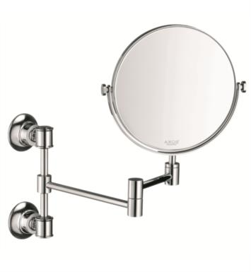 "Hansgrohe 42090820 Axor Montreux 7 3/4"" Pull-Out Circular Shape Shaving Mirror With Finish: Brushed Nickel"