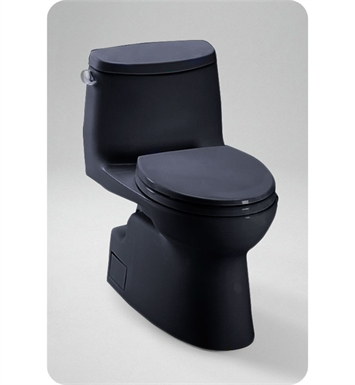 TOTO MS614114CEF#51 Carlyle® II One-Piece High-Efficiency Toilet in Ebony Black, 1.28GPF With Finish: Ebony <strong>(SPECIAL ORDER. USUALLY SHIPS IN 3-4 WEEKS)</strong>