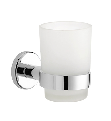 LaToscana AT02PW Atlanta Toothbrush and Tumbler Holder With Finish: Brushed Nickel