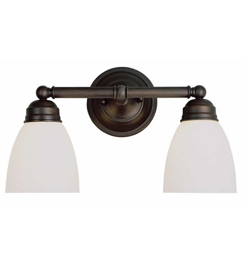 Trans Globe 3356 Traditional Frosted 2 Light Bath Bar