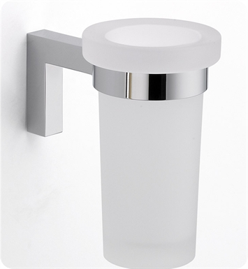 LaToscana SQ02CR Square Toothbrush and Tumbler Holder With Finish: Chrome