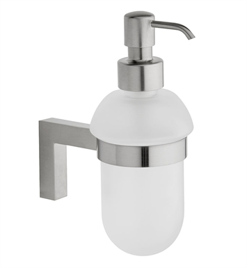 LaToscana SQ01DPW Square Soap Dispenser With Finish: Brushed Nickel