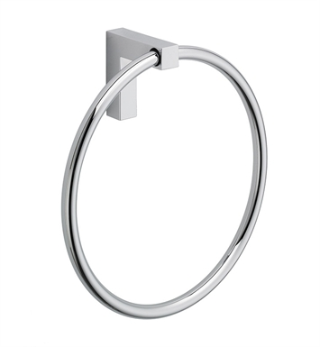 LaToscana SQ07PW Square Towel Ring With Finish: Brushed Nickel