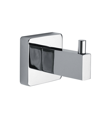 LaToscana SQ08PW Square Robe Hook With Finish: Brushed Nickel