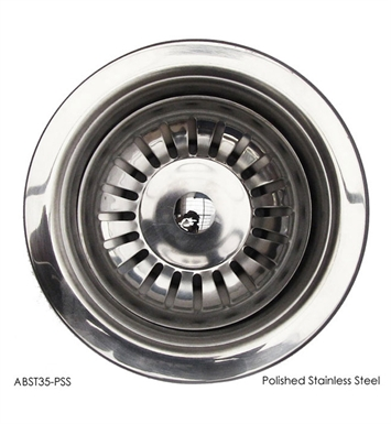 "ALFI Brand ABST35-PSS Polished Stainless Steel 3 1/2"" Basket Strainer Drain"
