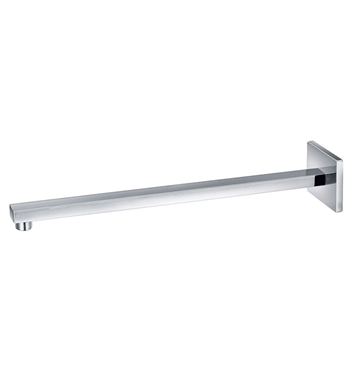 "ALFI Brand AB16SW-PC [DISCONTINUED] ALFI Brand AB16SW 16"" Square Wall Mounted Chrome Shower Arm for Square Rain Shower Heads"